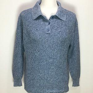 Norm Thompson Women's Blue Knit Sweater Size M